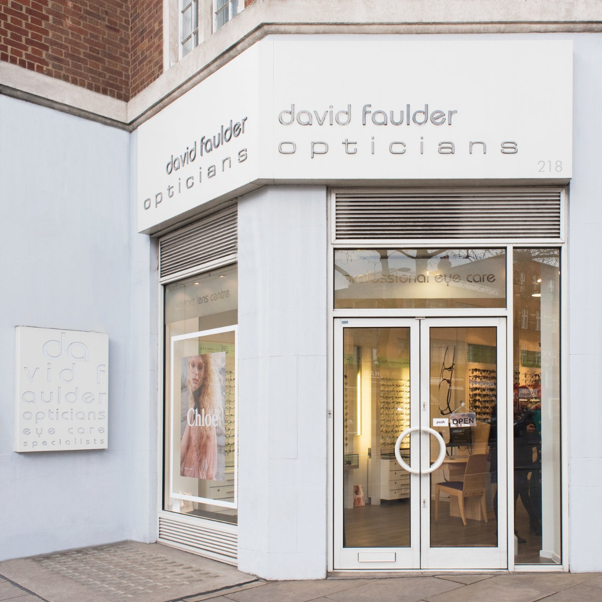 <h4>Contact David Faulder Opticians Kensington</h4> <p>Phone: 020 7937 8790<br>Email: info@davidfaulder.com<br>Address: 218 Kensington High Street London W8 7RG</p> <h4>Opening Hours</h4> <p>Monday to Saturday: 9.30am - 5.30pm<br>Sunday's and Bank Holidays - Closed</p> <h4>Additional Information</h4> <ul> <li>Wheelchair and disabled access</li> <li>A short walk from Kensington High Street Tube Station</li> </ul>