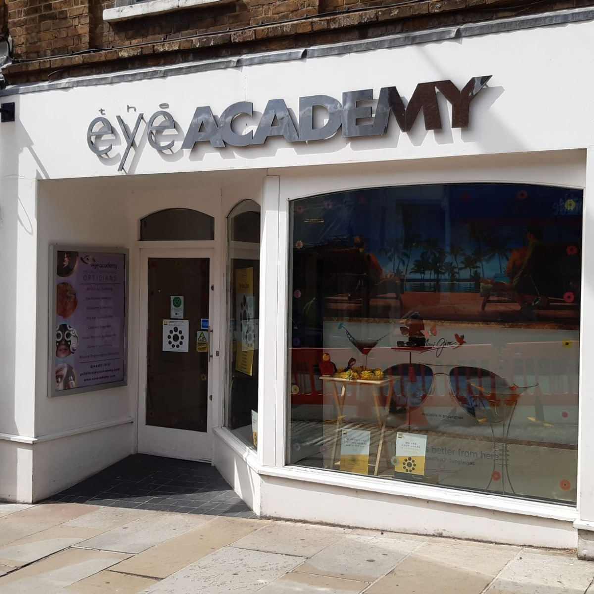 <h4>Contact Eye Academy Opticians Guildford</h4> <p>Phone: 01483 57 79 57<br>Email: guildford@eyeacademy.com<br>Address: 45 High Street, Guildford, GU1 3DY</p> <h4>Opening Hours</h4> <p>Monday to Saturday:9.00am - 5.30pm</p> <p>Sunday's and Bank Holidays - Closed</p> <h4>Additional Information</h4> <ul> <li>Wheelchair and disabled access</li> <li>A short walk from Guildford train station</li> </ul>